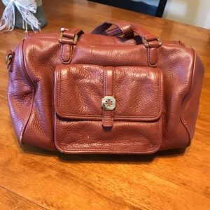 Tory Burch genuine leather brown shoulder bag 👜